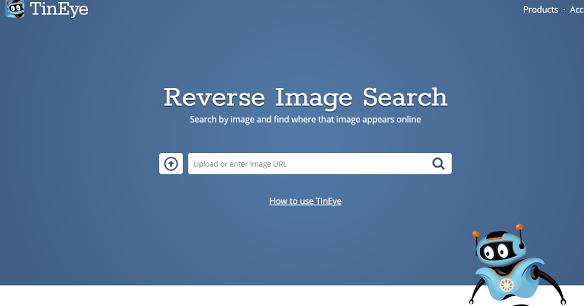 Una página que encuentra el origen de una imagen