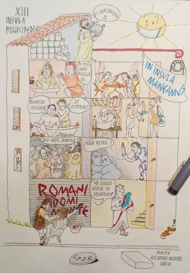 recreación romana de la famosa Rue del Percebe, obra de Alejandro Valverde